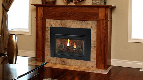 Fireplace installed in home
