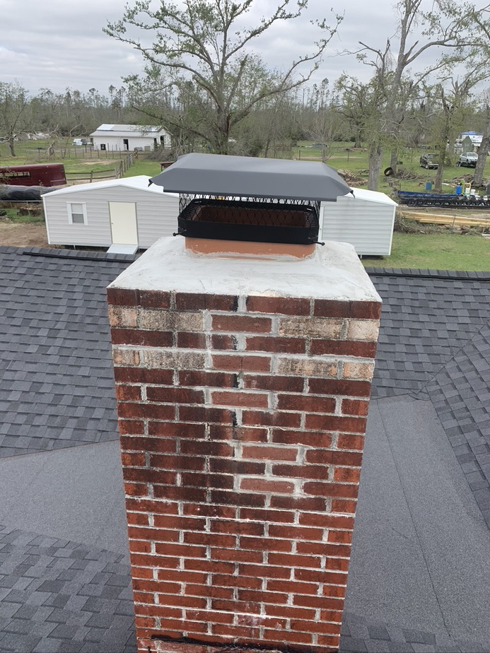 Chimney cap on home in Tallahassee