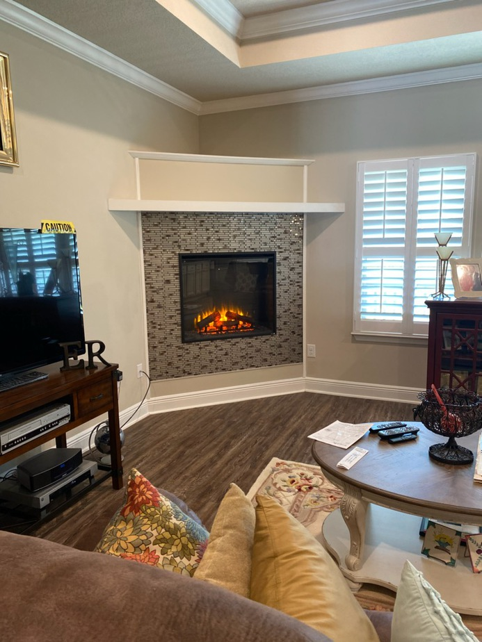 Beautiful finished fireplace done for Navarre family