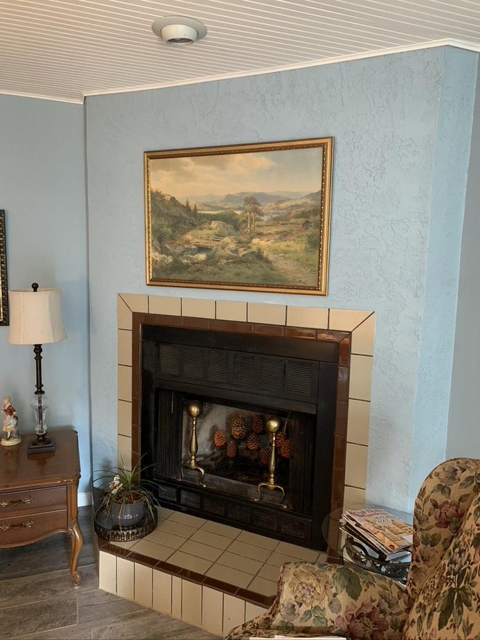 Orlando fireplace installation finished