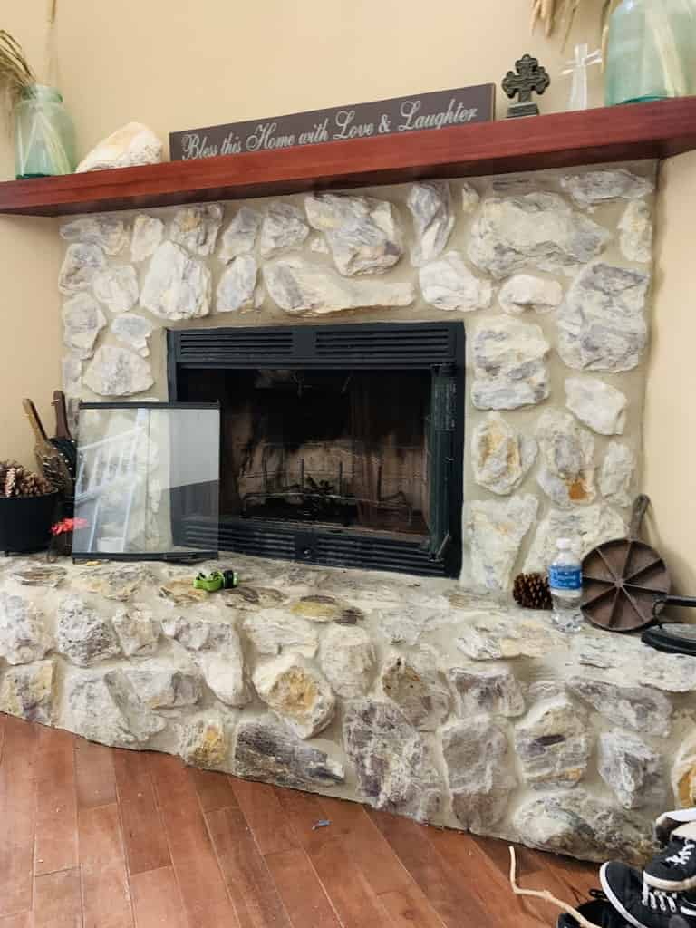 Fireplace Inspection on Stone Facade