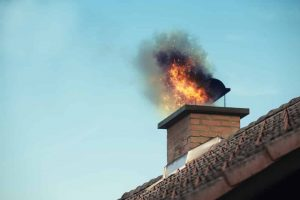 chimney fire that could have been prevented